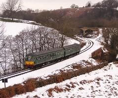 Class 101 (mike_j's photos) Tags: snow railway british nymr dmu northyorkshiremoors class101 brgreen darnholmecurve
