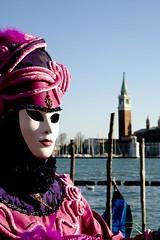 maschera rosa davanti a san giorgio (Nicola Zuliani) Tags: venice rosa carnevale venezia maschere nizu nicolazuliani wwwnizuit