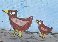 Feed the Birds - Close Up (Knottwood) Tags: original silly painting funny acrylic bright humourous