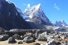 Cholatse - Nepal (Jeremiah Cunningham) Tags: travel bridge nepal winter sunset yak sky moon mountain snow mou