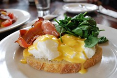 Eggs Benedict with Bacon - The Maling Room AUD13 (avlxyz) Tags: food breakfast bacon cafe toast egg postoffice canterbury spinach benedict asty malingroad themalingroom