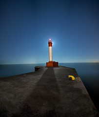 Moon Shadows (Insight Imaging: John A Ryan Photography) Tags: longexposure moon lighthouse toronto ontario night panoramic aficionados pentaxk10d wwwinsightimagingca johnaryanphotography