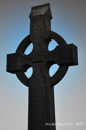 Celtic Cross Focal B&W