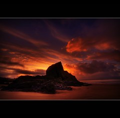 ROCK AND CLOUDS - THREE CLIFFS BAY - THE GOWER (Wiffsmiff23) Tags: rock swansea clouds sunrise threecliffsbay thegower platinumphoto vosplusbellesphotos