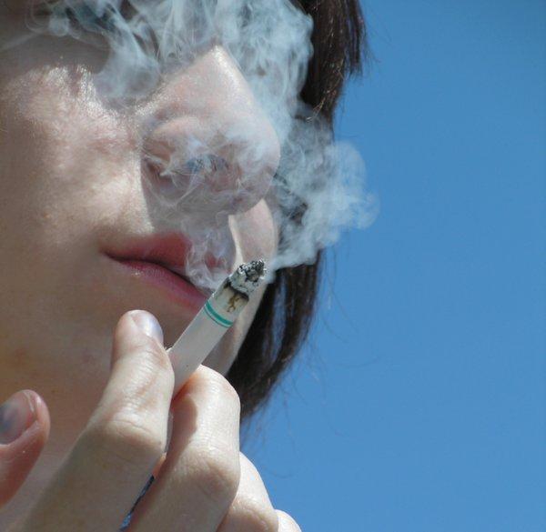 Melanie smoking