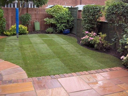 Indian Sandstone Patio and Lawn Image 27