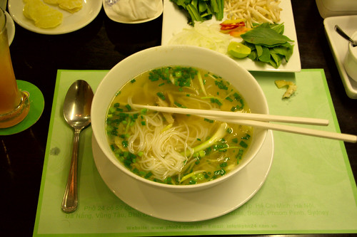 Pho soup in Ho Chi Minh City, Vietnam