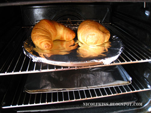 hot oven baked croissants