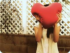 Holding onto love (celeste li) Tags: love holding heart pillow beatrice celeste celestephotography