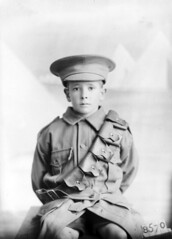 A child dressed in uniform, 1915 (Australian War Memorial collection) Tags: boy portrait uniform child oversized poignant shortpants australianwarmemorial
