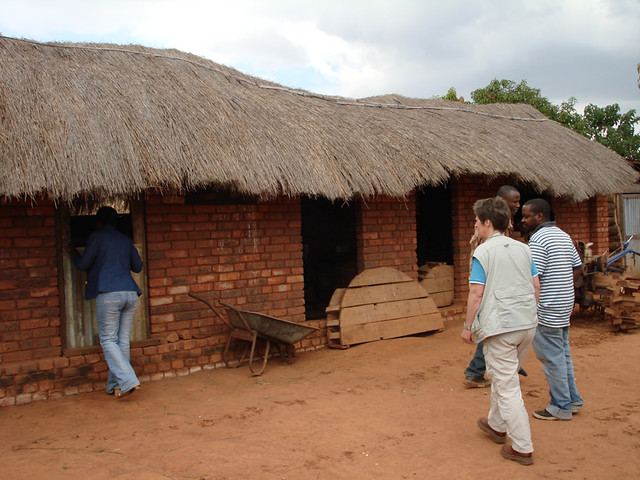 Chicken/ maize mill house