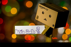 Danbo First Fan Sign *explored* (achew *Bokehmon*) Tags: color paper fan bokeh drawing circles sony alpha alphabets fansign a300 danbo danboard ダンボー danbowallpaper danboardwallpaper
