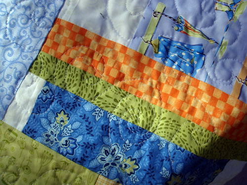 coat rack quilt quilting detail