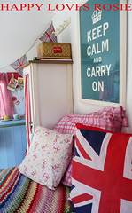Keep calm and carry on... (HAPPY LOVES ROSIE) Tags: flowers red max green ikea yellow vintage garden happy strawberry deckchair cheeky next retro gingham caravan chic decor unionjack 1950 pram polkadot decorated blighty shabby cathkidston grannyblanket happylovesrosie frenchenamel bluecheck tanyawhelan vintex 2berth fisherholivan happyshabby bellingcooker