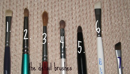 The detail eye brushes