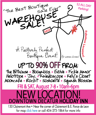 Warehouse Sale at Downtown Decatur Holiday Inn is Friday, August 7 - Saturday, August 8