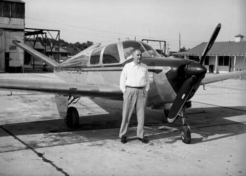 Man and light plane 02