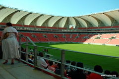 people (Rushay) Tags: africa roof field southafrica football stadium fifa soccer seats poles 2010 portelizabeth nelsonmandelabaystadium