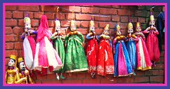 Katputlis - Rajasthan Puppets (Ginas Pics) Tags: pink blue red india color colour art colorful drum framed paintings drawings folklore special explore story puppets getty string dramatization punjab pushkar fp farbe rajas extra carpentry rajasthan woodcarving scriptwriting puppetry puppeteer travelphotography ginaspics langas indiapics dholak claymodeling manganiyars katputlis mirasis plastercastmaking costumedesigning songandmusiccomposition rajasthanpuppettheaters gettyvacation2013
