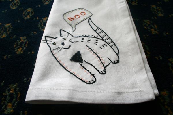 Boo the Cat Napkin