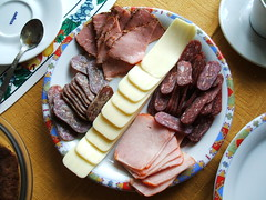 Bulgarian Breakfast (grcho) Tags: food cheese breakfast ham meat bulgaria luncheon lukanka sujuk
