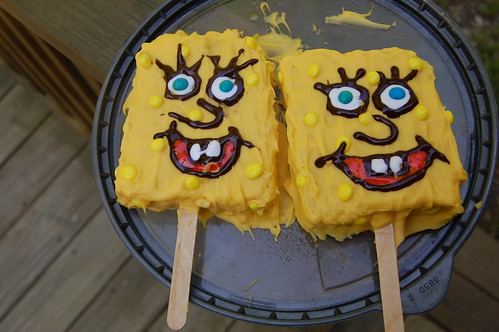 Spongebob Rice Krispie treats