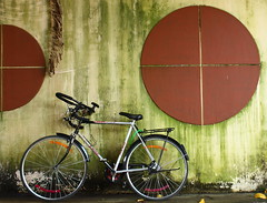 My Bicycle.. (Prasshannt K) Tags: bicycle wall graffiti kerala cycle distraction alleppey allapuzha designonthewalls