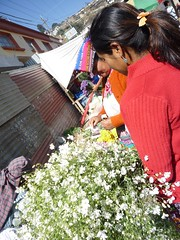 Flower vendors in rural Guatemala.
