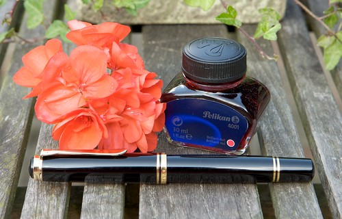 Pelikan Red Fountainpen ink
