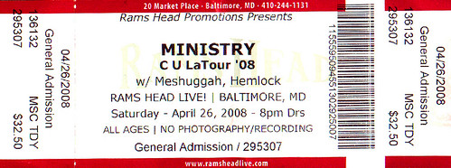 20080426 - Ministry ticket stub