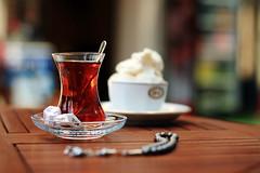 izmir, turkey:  227/365 (helen sotiriadis) Tags: food canon turkey published dof tea bokeh depthoffield icecream 365 komboloi canonef50mmf14usm ismir smyrni canoneos40d   toomanytribbles