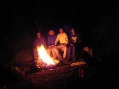 Caleb, Allison, Cole and Bob at camp, Parker Lake, Selkirk Mountains, North Idaho