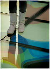 these boots are made for walking (Caroline Castendijk) Tags: abstract glass amsterdam architecture photography colours floor boots library curacao simona allrightsreserved refection bieb oba openbarebibliotheekamsterdam anikita flickrmeetamsterdam carolinecastendijk 2009carolinecastendijk fma050909 fotografiecuracao curaaofotografie curacaofotografie carolinecastendijkphotography photographycuraao carolinecastendijkfotografie carolinecastendijkphotographer