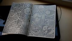 MmmmMasks ([rich]) Tags: moleskine pencil sketch mask zombie doodle masks zombies quick scribble