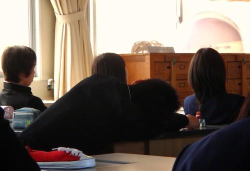 Siestecita en clase