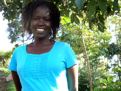Kakenya in her mothers farm