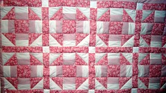 Pink Beatrix Potter cot quilt (Bananabean Designs) Tags: hand made quilts patchwork babygift