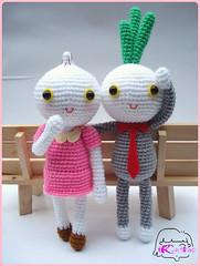 Onion sweetheart (artsh0p) Tags: white cute doll crochet gray kawaii onion sweetheart pick amigurumi