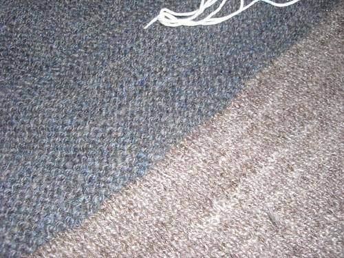Cobblestone knitting closeup