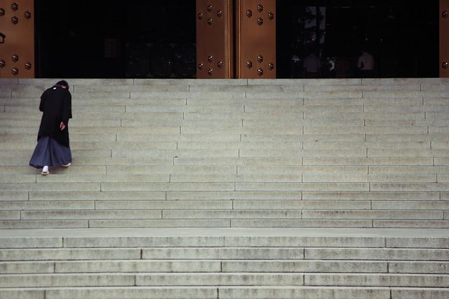 寺院の石段