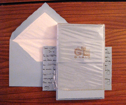 G. Lalo Verge de France Deckle-Edged Correspondence Set