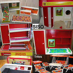 """Siso"" doll furniture from the 1970s (Polly Plasty I.) Tags: accessoires trifels siso"