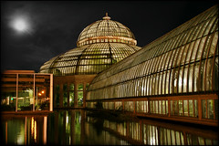 saint paul como park zoo - marjorie mcneely conservatory (Dan Anderson (dead camera, RIP)) Tags: park flowers plants moon como flower glass minnesota night clouds garden zoo pond stpaul conservatory dome tropical twincities saintpaul mn comopark sunkengarden comozoo marjoriemcneelyconservatory marjoriemcneely