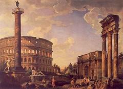 1700 Rovine (Roma ieri, Roma oggi di Alvaro de Alvariis) Tags: italy rome roma colosseo 1700 rovine 1720 ruderi capriccio rionecelio digiovannipaolopannini