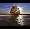 M o o n   S h i n e (Reed Ingram Weir) Tags: ocean longexposure light moon night canon sand seascapes mk2 5d 1740mmf4l explored reedingramweir marsdensbay