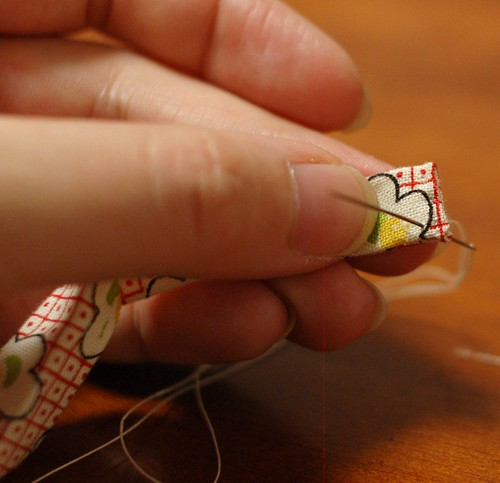 How to make a patchwork string 13