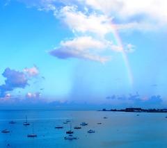Barbados Blues 3 (NigelDurrant) Tags: blue sea sky cloud water arcoiris boats island rainbow agua barbados caribbean yachts bridgetown arcenciel antil