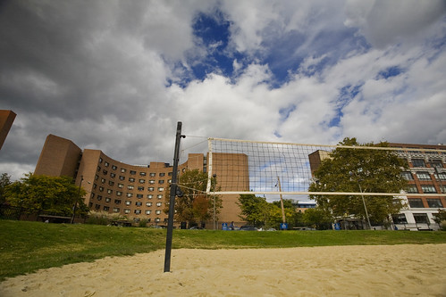 volleyball court at 33rd & arch