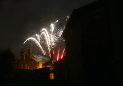 Bollington: Halloween Fireworks (eastofnorth) Tags: uk halloween night digital canon findleastinteresting cheshire fireworks ground bonfire recreation eastofnorth 30d bollington