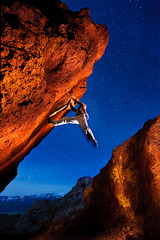 Paul, night bouldering (liquid in plastic) Tags: lightpainting sports rock night stars paul photography evening photographer nevada nv climbing bouldering reno rockclimbing v7 carsoncity gelled washoevalley nikonsb800 dannewton nikond3